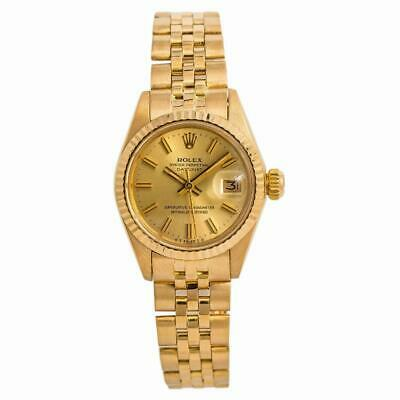 $ CDN6542.66 • Buy Rolex Datejust 6917 Jubilee Womens Automatic Vintage Watch 18K Yellow Gold 26mm