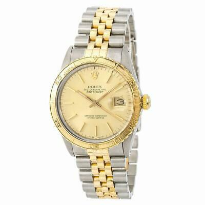 $ CDN6611.02 • Buy Rolex Datejust 16253 Mens Automatic Watch Champagne Dial Two Tone 18K 36mm