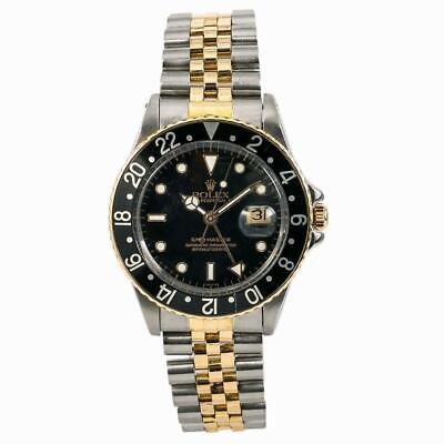 $ CDN11280.32 • Buy Rolex GMT-Master 16753 Vintage Mens Automatic Watch Black Dial Two Tone 40mm