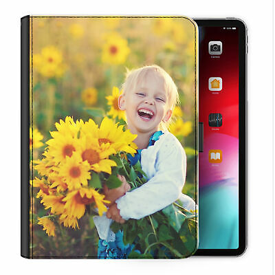 Personalised PU Leather Case, Customised Photo/Text Universal Tablet Flip Cover • 27.99£