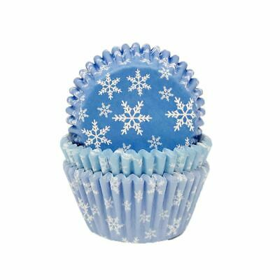 £7.95 • Buy Snowflake Frozen Party Cupcake Cases Wrappers - Cake Decoration X 75