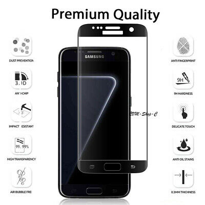 $ CDN6.75 • Buy Screen Protector For SAMSUNG Galaxy S7 Edge Glass FILM Tempered COVER 5D Black