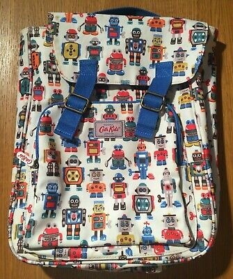 Cath Kidston Childrens Robot Backpack ... Fantastic Condition ... Oil Cloth • 15.99£