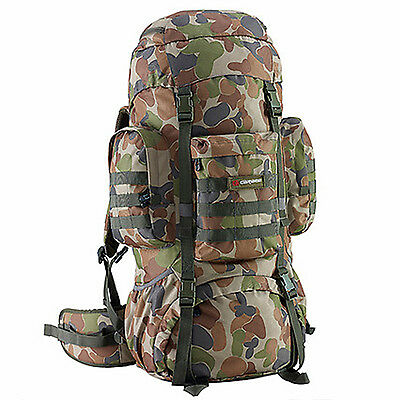 AU159.99 • Buy Caribee Platoon Military Tactical Backpack 70L Auscam Rucksack CAMO