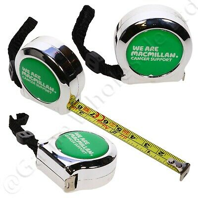 Tape Measure 2m 6ft - Compact Pocket Keyring - 10% To Macmillan Cancer Support • 2.99£
