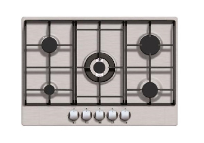 70cm 5 Burner LPG Gas Hob In Stainless Steel -Iberna By Baumatic BGHU700SS • 129£