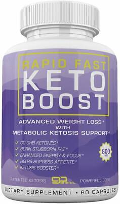 $28.95 • Buy Rapid Fast Keto Boost 1 Month Supply 60 Capsules **fast Shipping**