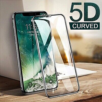For Apple IPhone X XR XS Max Full Film Tempered Glass Screen Protector 5D Curved • 3.69£