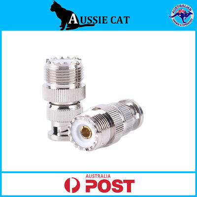 AU7.95 • Buy BNC Male Plug To UHF SO239 PL259 Female Jack RF Coaxial Adapter Cable Connector