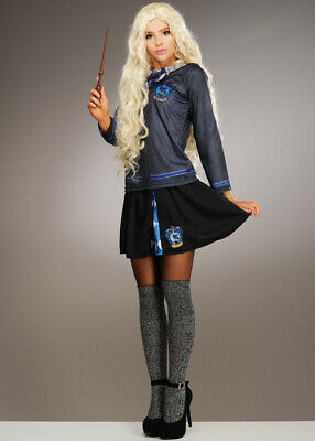 Womens Luna Lovegood Style Ravenclaw Fancy Dress Costume INCLUDES TOP AND SKIRT • 45.99£
