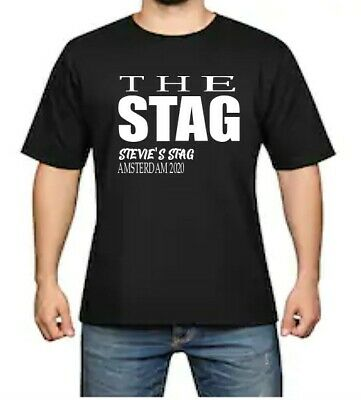 THE STAG: Men's Stag Do T-shirts Personalised Funny Design Custom • 9.99£