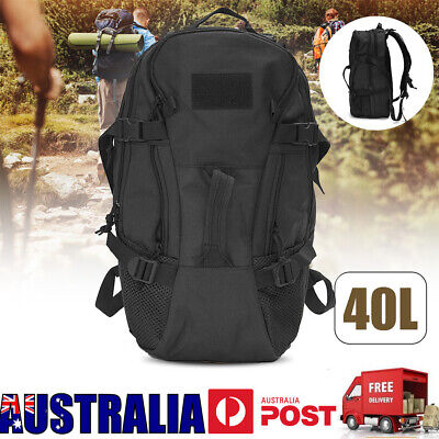 AU27.99 • Buy 40L Black Military Tactical Rucksacks Hiking Travel Camping Bag Backpack Luggage