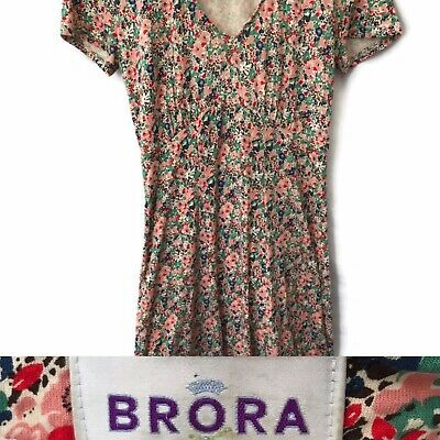 Brora Size 8 Floral Dress Spring Fit And Flare E • 19£