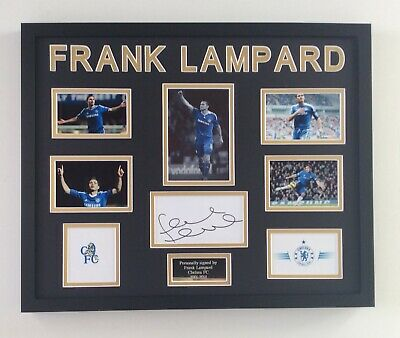 Frank Lampard Chelsea FC Hand Signed Autograph • 199£
