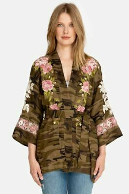 $143 • Buy Johnny Was Yuki Linen Embroidered Trapunto Kimono Boho Chic J46719 NEW