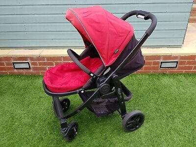 Graco Evo Pushchair Travel System In Red • 40£