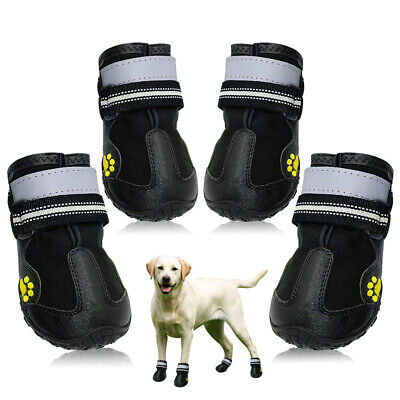 £13.08 • Buy Waterproof Dog Shoes Large Snow Boots Paw Protector Booties Reflective Non Slip