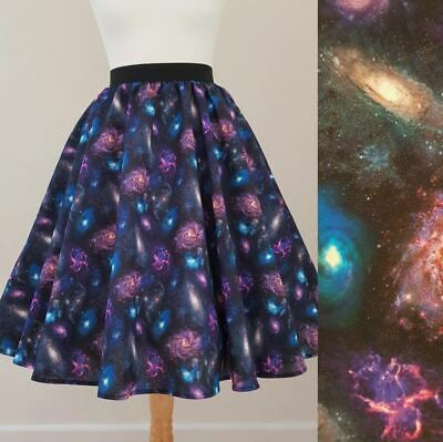 £30.99 • Buy 1950s Circle Skirt Cosmic Universe All Sizes - Galaxy Space Purple Rockabilly