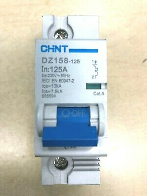 Chint MCB double /& Triple pole Single Type B /& C 1-63 Amps