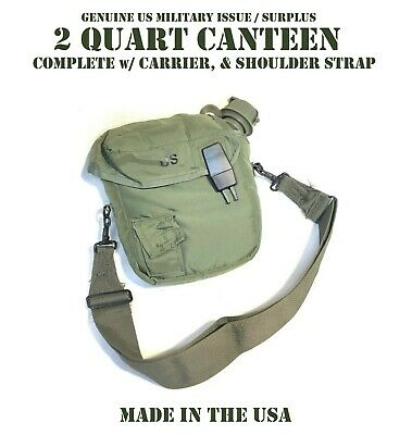 $ CDN32.89 • Buy Od Green 2qt 2 Quart Canteen Carrier Us Military Alice Clips Cover Pouch Strap