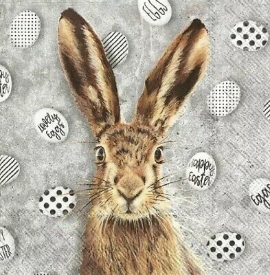 £1.39 • Buy 4 Lunch Paper Napkins For Decoupage Party Table Craft Vintage Oh My Rabbit