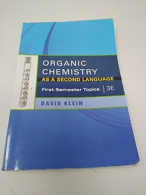 $35 • Buy First Semester Topics Organic Chemistry As A Second Language David Klein