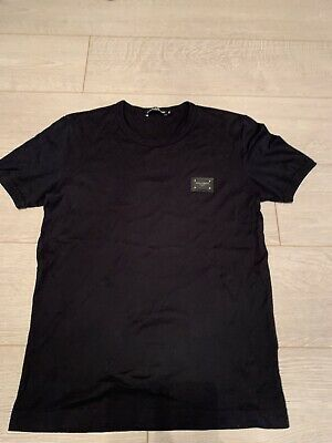 £80 • Buy Dolce And Gabbana Plaque Mens Navy Short Sleeve Tshirt Tee Top Size 46 Small