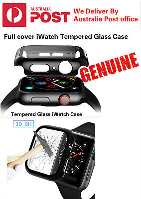 AU11.95 • Buy For Apple Watch Series 4,3,2,1 Tempered Glass Cover Case Full 360* Full Cover