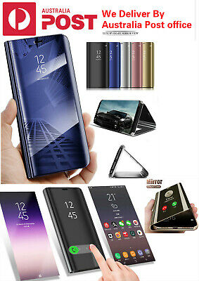 AU10.95 • Buy For Samsung Galaxy S9/S8/S10 Note10 Plus 8/9 Smart Mirror View Flip Case Stand