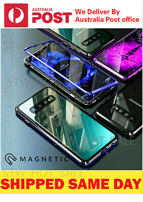AU12.95 • Buy For Samsung S20/S10/S9/S8 Note10 Plus Magnetic Case Metal Tempered Glass Cover