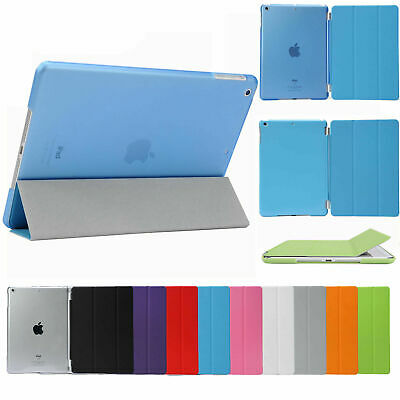AU10.98 • Buy Smart Cover Hard Back Case For Apple IPad 6th Gen IPad 6 5 4 3 2 Mini Air Pro