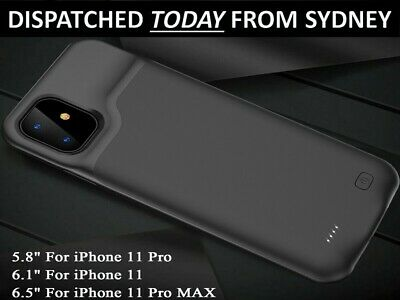 AU36.85 • Buy Smart Battery Case For IPhone 11 Pro Max 10,000mAh Power Bank Charger Cover AU