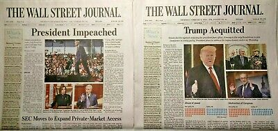 $49.99 • Buy The Wall Street Journal Donald Trump  IMPEACHED  /  ACQUITTED  MAGA!!! USA