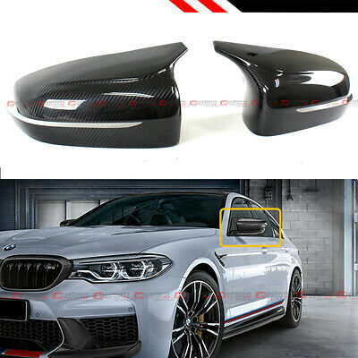 $125.99 • Buy For 2018-2020 Bmw F90 M5 Carbon Fiber Add-on Performance Style Mirror Cover Caps