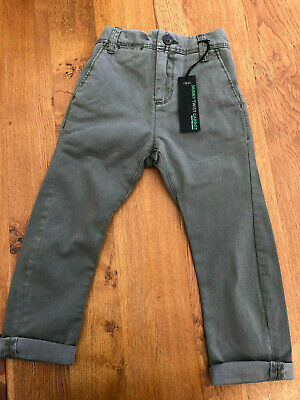 NEXT Boys Khaki Skinny Twisted Leg Carrot Chinos - BNWT - 3 Years • 8.50£