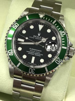 $ CDN19698.34 • Buy Rolex 16610 Submariner Anniversary Green & Black Kermit Mint Papers Unpolished
