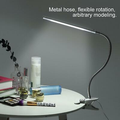 LED Makeup USB Clamp Desk Lamp Nail Table Light Clip Base 4.5W Flexible Reading • 9.39£