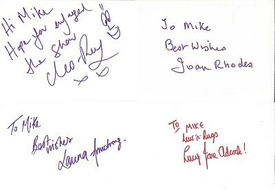 Autographs Lucy-Anne Adock Laura Armstrong Joan Rhodes Cleo Rey Z2255 • 3.97£