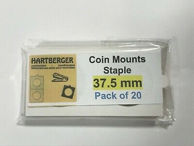 AU2.40 • Buy HARTBERGER BRAND 20 Staple Type 2 X 2 Coin Holders 37.5mm