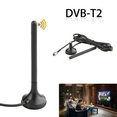 Portable HDTV TV Antenna Indoor Digital HD Freeview Aerial Ariel Magnetic Base • 2.98£