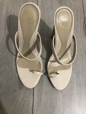 Missguided Toe Post Nude  Mule Style Shoes. Size 6 Uk • 9£