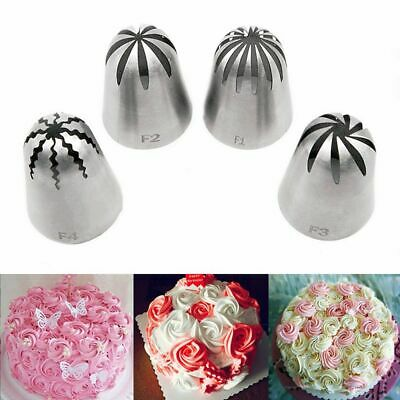 Cake Cream Russian Icing Piping Nozzles Pastry Tip Kits Stainless Steel Bakeware • 6.48£