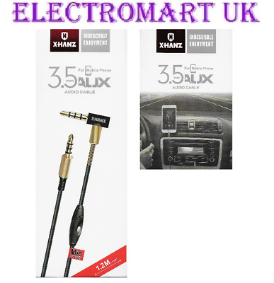 £4.90 • Buy 3.5mm Mini Jack 4 Pole Aux Cable Lead Headphones With Mic Microphone 1.2m