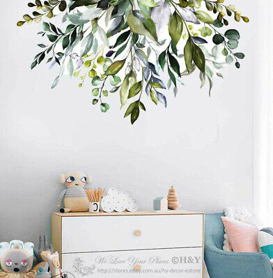 Garden Branch Floral Wall Sticker Nursery Decal Baby Cot Home Decor Kids Art DIY • 13.33£