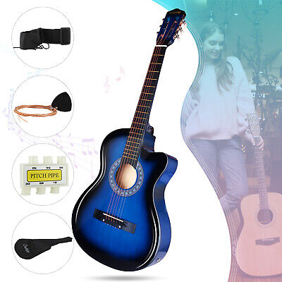 "AU84.90 • Buy 38"" Electric Acoustic Guitar Beginner Classical Folk EQ W/Bag Strap String Pick"