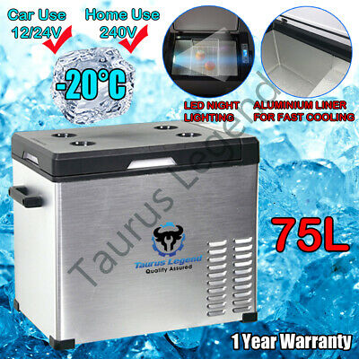 AU465 • Buy 75L Portable Car Fridge 12V/24V/240V Car Caravan Bus Boat Rapid Cooling Freezer