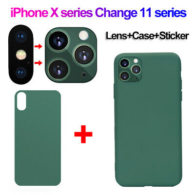 For IPhone X Xs Max To 11Pro Max Fake Camera Cover Back Film Sticker Phone Case • 4.99£
