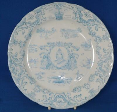 Queen Victoria Diamond Jubilee Ridgwood  Antique Royal Commemorative Plate • 29£