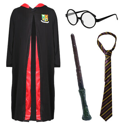 $ CDN26.44 • Buy Wizard Costume Adult Child World Book Day Fancy Dress Glasses Wand Tie