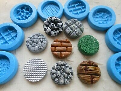 1x Sugarcraft/Fimo MOULD: 25mm Miniature Figure BASE PLATE Disc / Stepping Stone • 3.65£